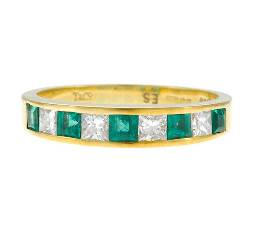 18k yellow gold, diamond and emerald band, Tiffany & Co.