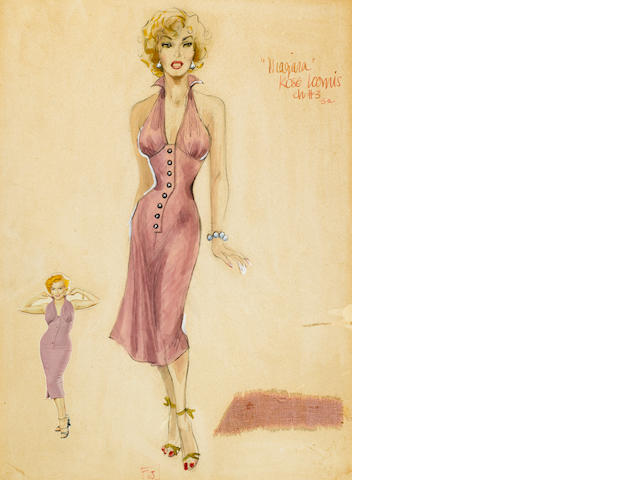 A Rose Loomis costume design for Marilyn Monroe in Niagara