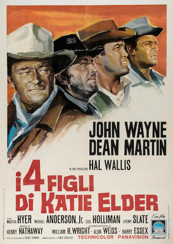 A group of Western movie posters