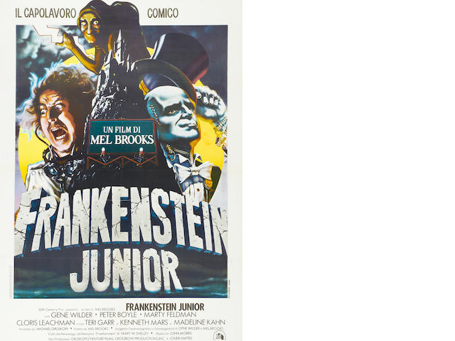 Young Frankenstein (Frankenstein Junior).  Large French or Italian, framed.