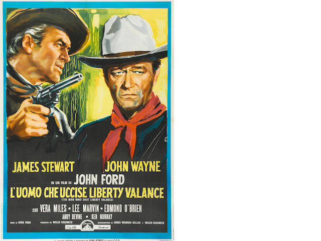 The Man Who Shot Liberty Valance- Italian, 2-foglio.