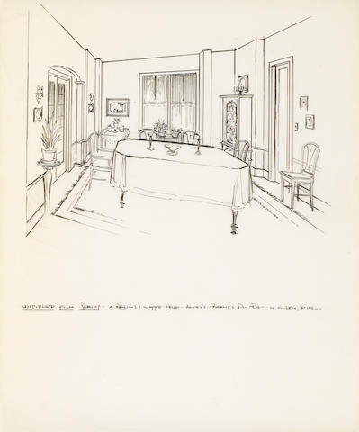 An pair of set designs from Annie Hall