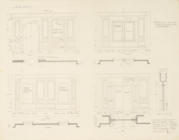 A group of three set designs from Annie Hall