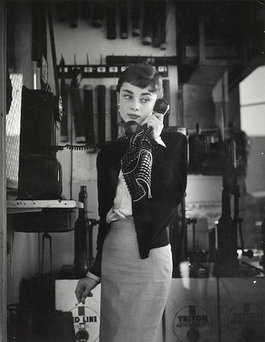A William Woodfield photograph of Audrey Hepburn