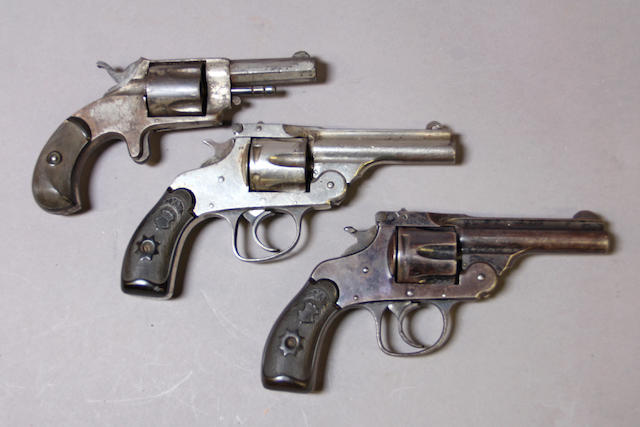 A lot of three Forehand & Wadsworth revolvers