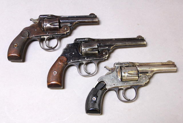 A lot of three Hopkins & Allen Safety Police double action revolvers