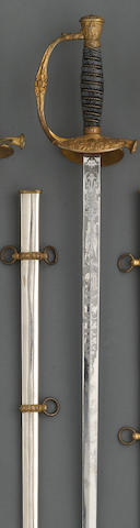 A U.S. Model 1860 staff & field officer's sword retailed by A.J. Plate of San Francisco