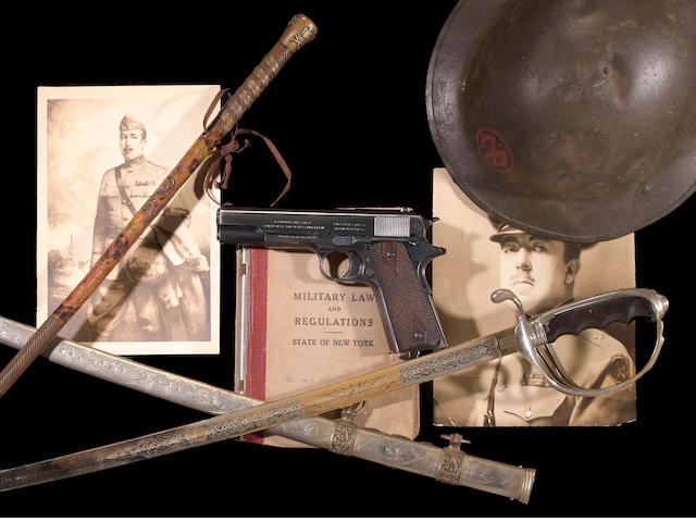 A fine U.S. Colt Model 1911 pistol with militaria grouping owned by Major General Franklin Wilmer Ward