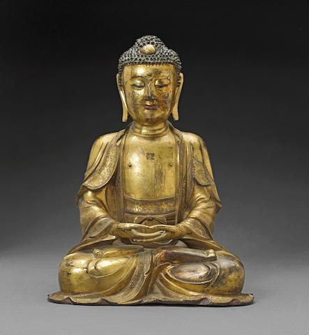 A gilt bronze Buddha Ming dynasty