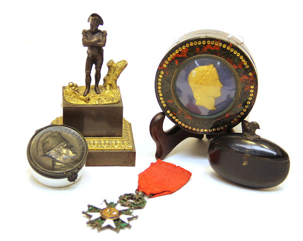 Four Napoleonic souvenirs 19th century