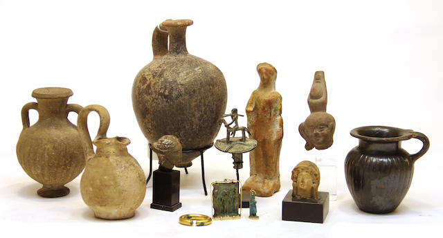 A group of twelve antiquities