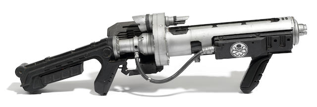 An illuminating rubber Hydra stunt assault rifle prop from Captain America: The First Avenger