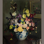 Frederick William Elwell (British, 1870-1958) Mixed Flowers 30 1/4 x 25in