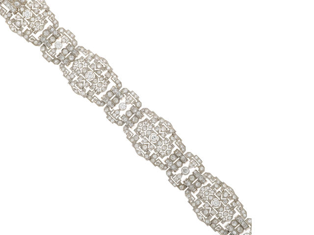 Diamond deco style bracelet