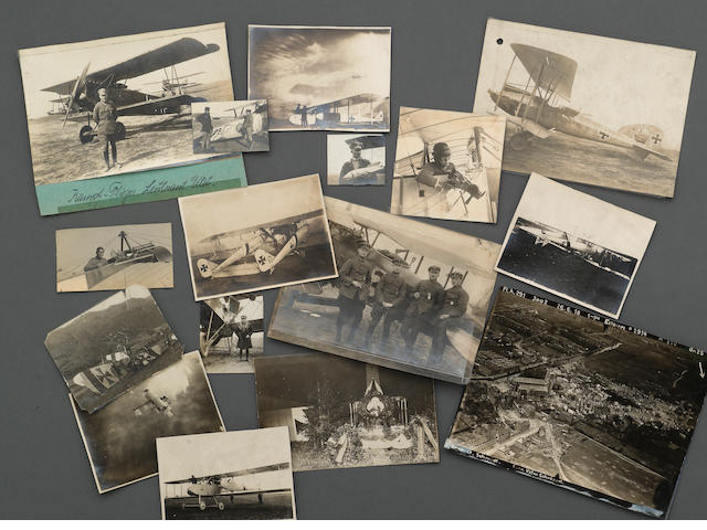 An extensive group of World War I aviation photographs from a German aviator's album