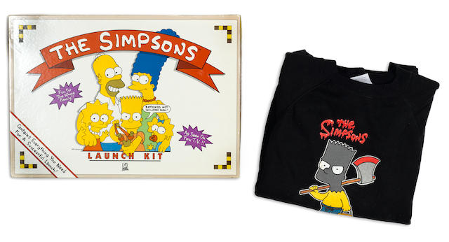 A collection of promotional material for the TV stations airing The Simpsons.
