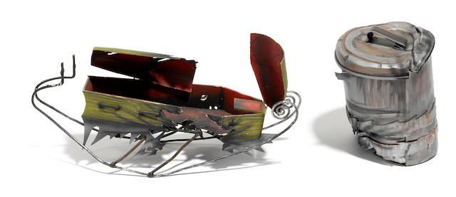 A screen used sleigh prop from The Nightmare Before Christmas