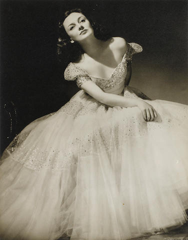 A group of large-scale vintage glamour photographs