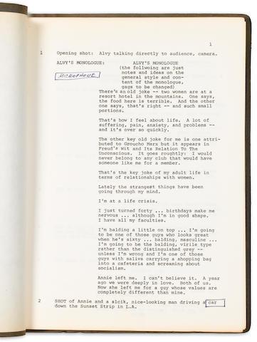 An Annie Hall script