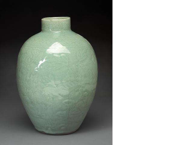 A longquan celadon vase Ming dynasty