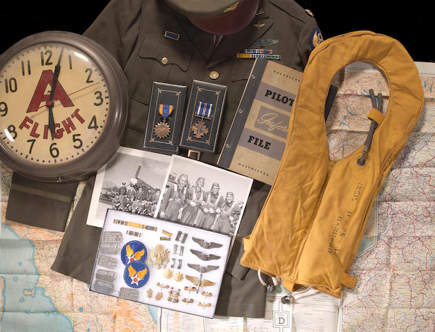 An extensive militaria grouping of World War II P-51 pilot, Captain Edwin C. Jennings