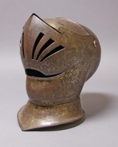 A reproduction helmet in 16th century style