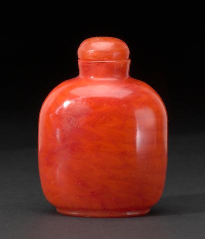 orange glass bottle