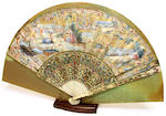 Two framed fans third quarter 18th and early 20th century