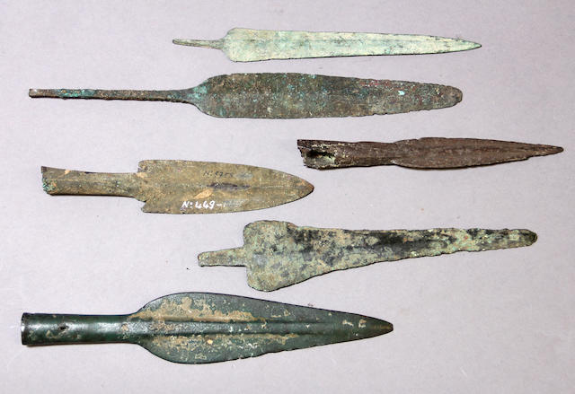 A group of six early spearheads