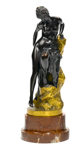 A Continental gilt and patinated bronze figure  after a model by Ferdinand Lepcke (German, 1866-1909) 20th century