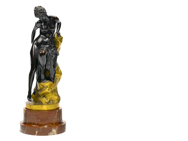 A Continental gilt and patinated bronze figure <BR />after a model by Ferdinand Lepcke (German, 1866-1909)<BR />20th century
