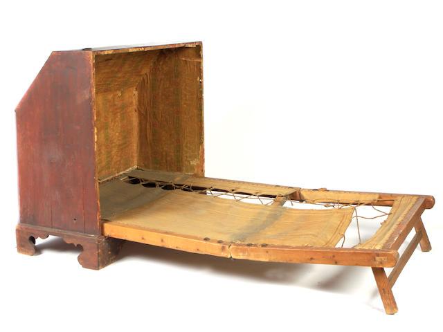 A George III mahogany campaign bed