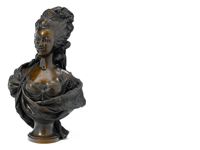 A French patinated bronze bust of Madame du Barry