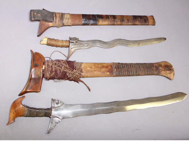 A lot of two Moro keris