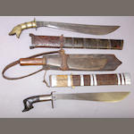 A lot of three Philippine edged weapons