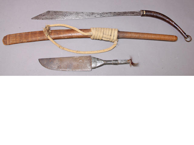 A lot of three Southeast Asian edged weapons
