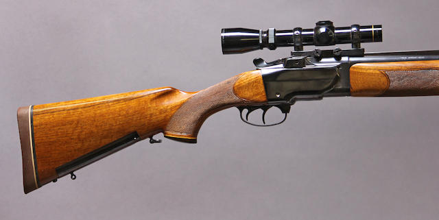 A 7.57/12 Gauge Brno Model ZH104 over/under combination gun