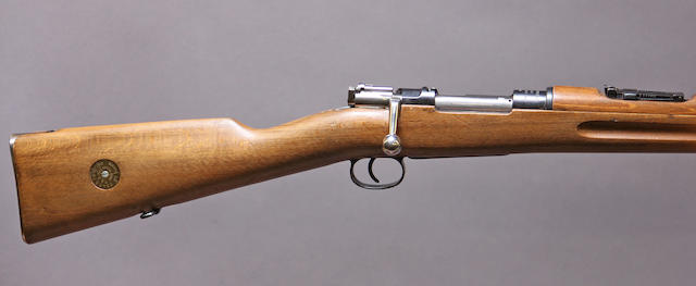 A Swedish Model 96-38 bolt action military rifle by Mauser