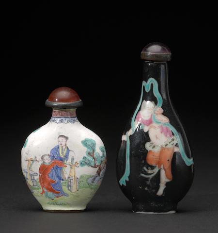 A Canton enamel snuff bottle Qing dynasty