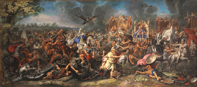 After Charles le Brun Battle of Arbella; Alexander and Porus (2), gousche (ea.)