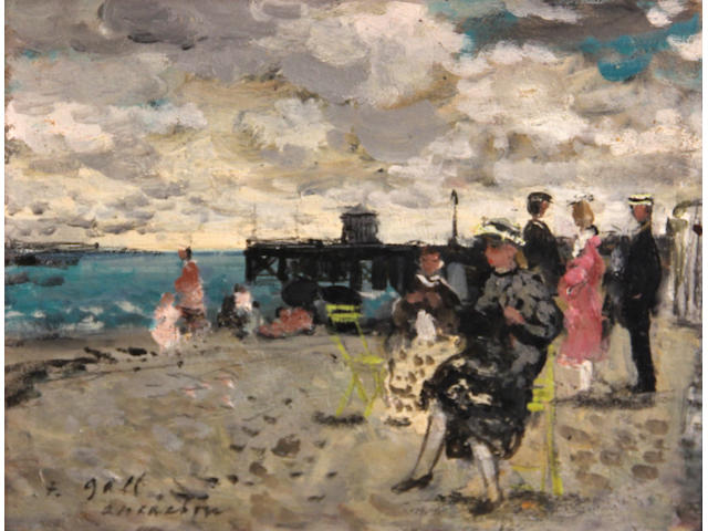 François Gall (French, 1912-1987) Eugénie assise, plage d'Arcachon, 1951 7 1/2 x 9 13/16in (19 1/2 x 25cm)