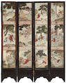 A Chinese four-panel coromandel screen  18th century elements