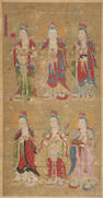 A Chinese painting of a Buddhist pantheon 17th/18th century