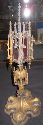 Two gilt metal monstrances in the mid 16th century style 20th century