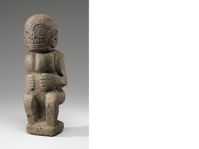 Seated God Image, Marquesas Island