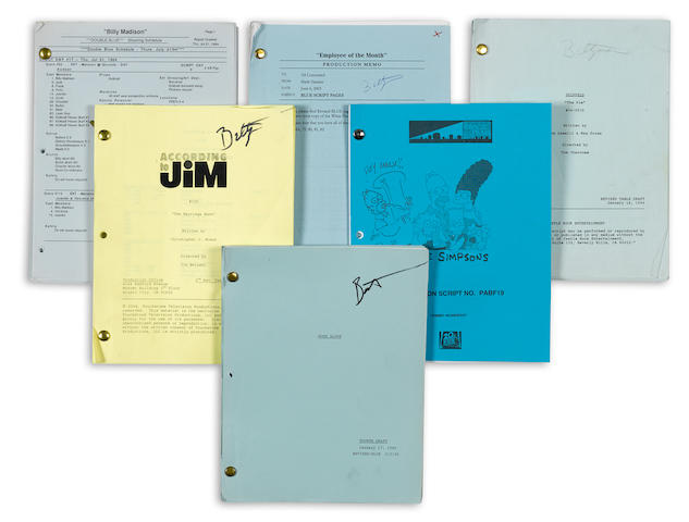 A large collection of film and television scripts and documents