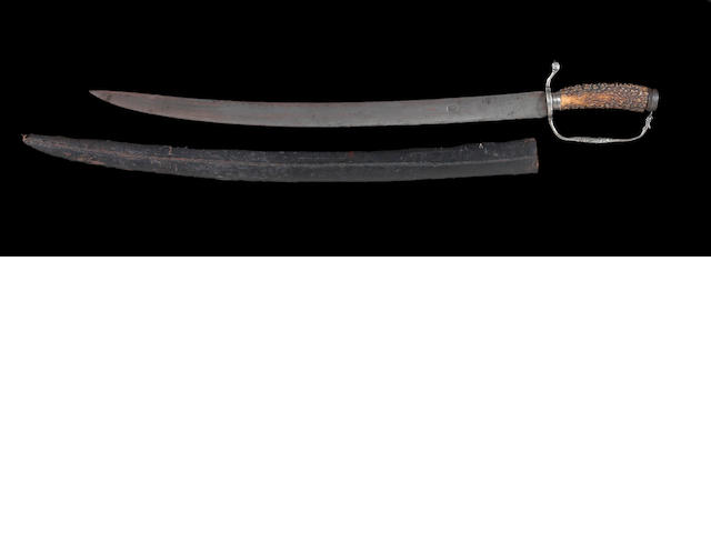An English silver-hilted hanger