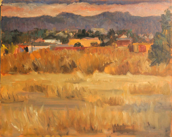 Paul Twohig Carey (American, 1904-2001) Martinez wetlands 16 x 20in