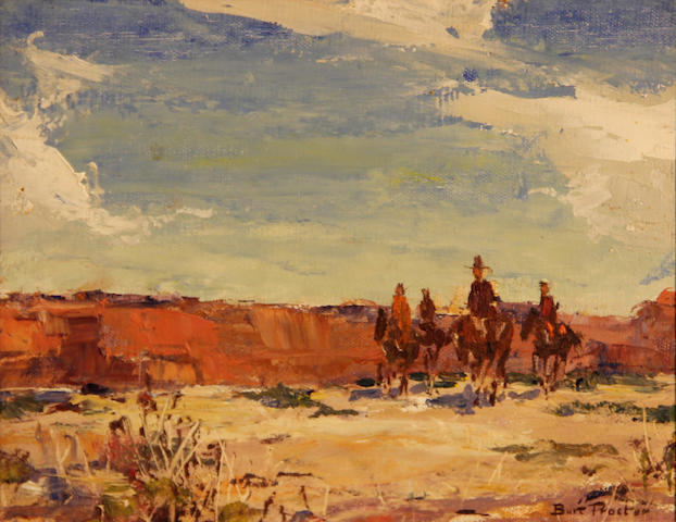Burt Procter (1901-1980) Four riders 8 x 10in
