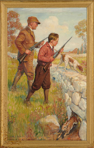 H.S. Moskowitz, Father and son hunters